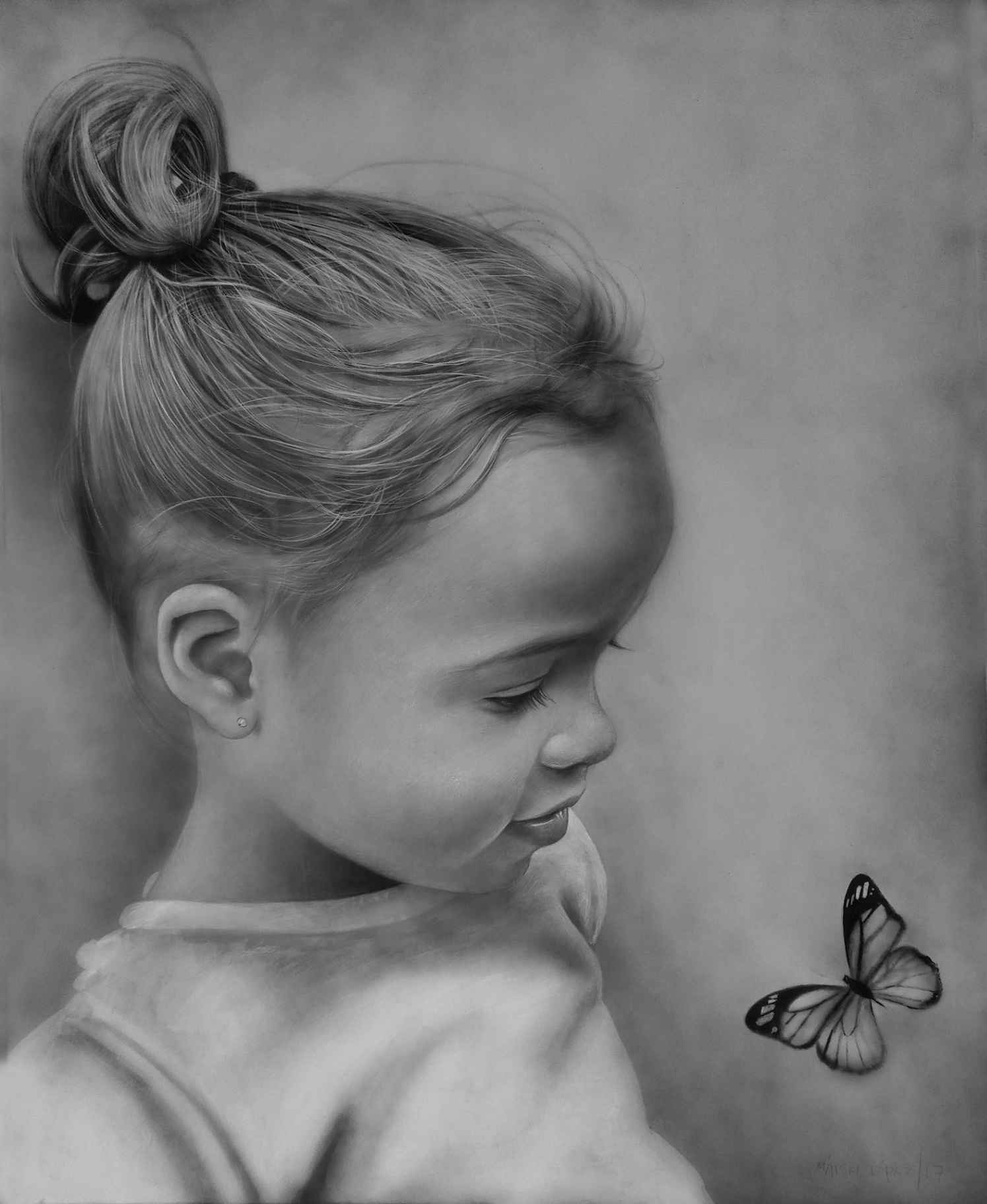 Obra: Bebe con mariposa