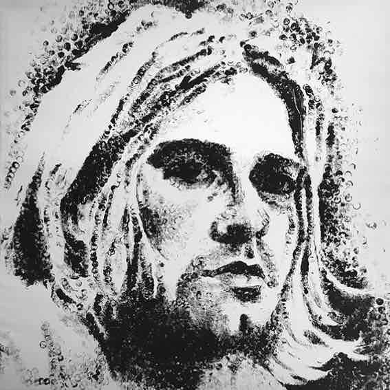 "Obra: Serie ""Gunshot"", Kurt Cobain."