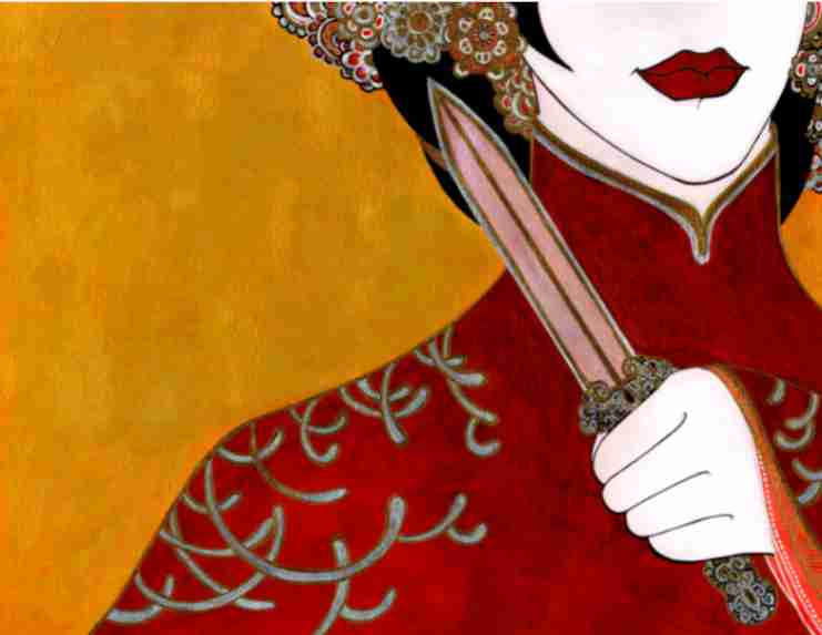 """Obra: Ilustración para el libro """"Turandot"""" (Editorial Gente Nueva, Cuba)"""