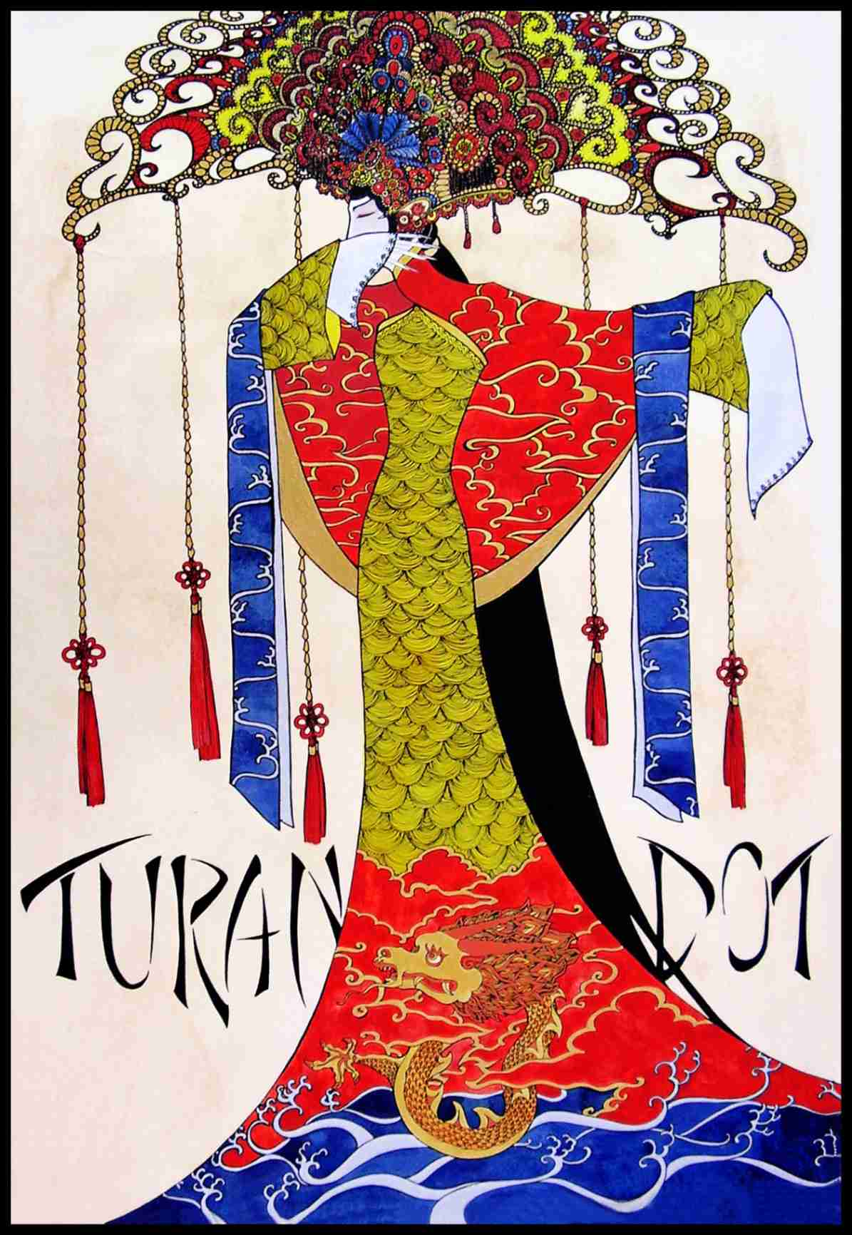 "Obra: ""Turandot"" (cartel para ópera)"