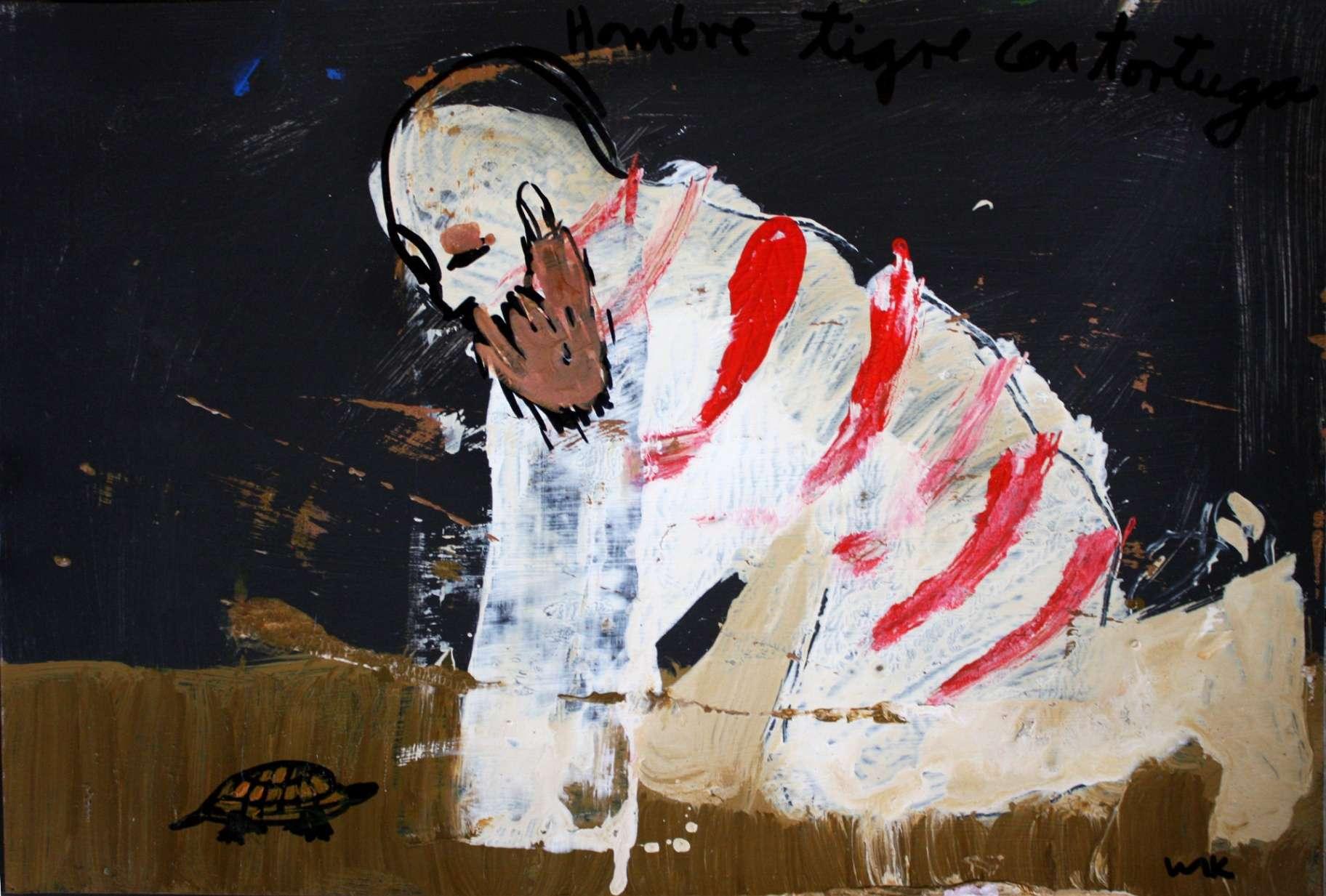 Obra: Hombre tigre con tortuga.