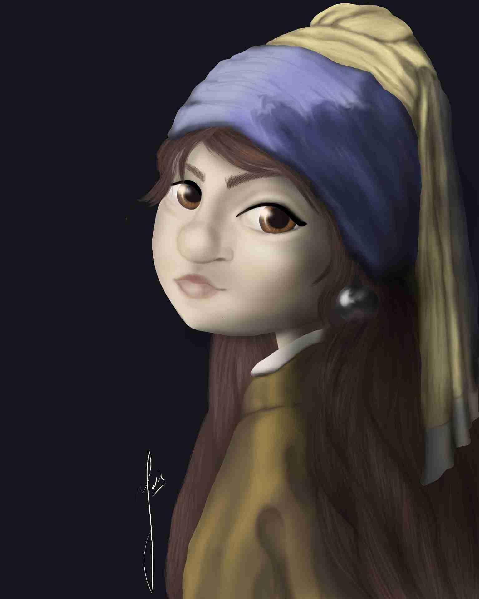 Obra: La niña de la perla