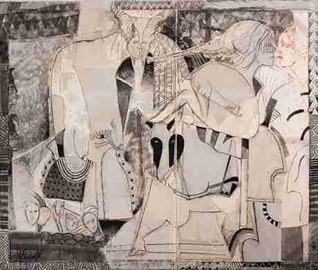 Obra: Cuadro abstracto cubano