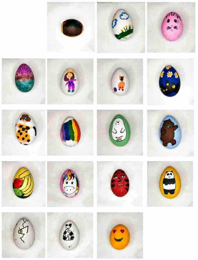 Obra: Tipología de huevos de Pascua