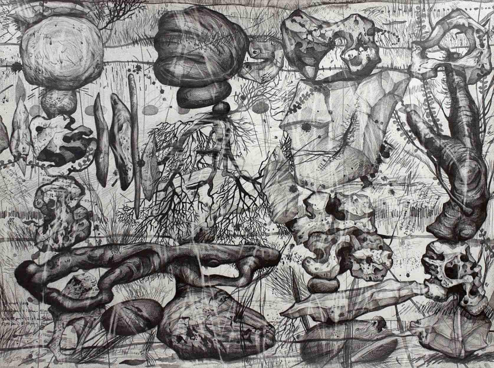 Obra: 500 minutos en 5125 cm2 #2 (Sobre el Salto del Caburní, Topes de Collantes, Sierra del Escambray, desde La Habana)