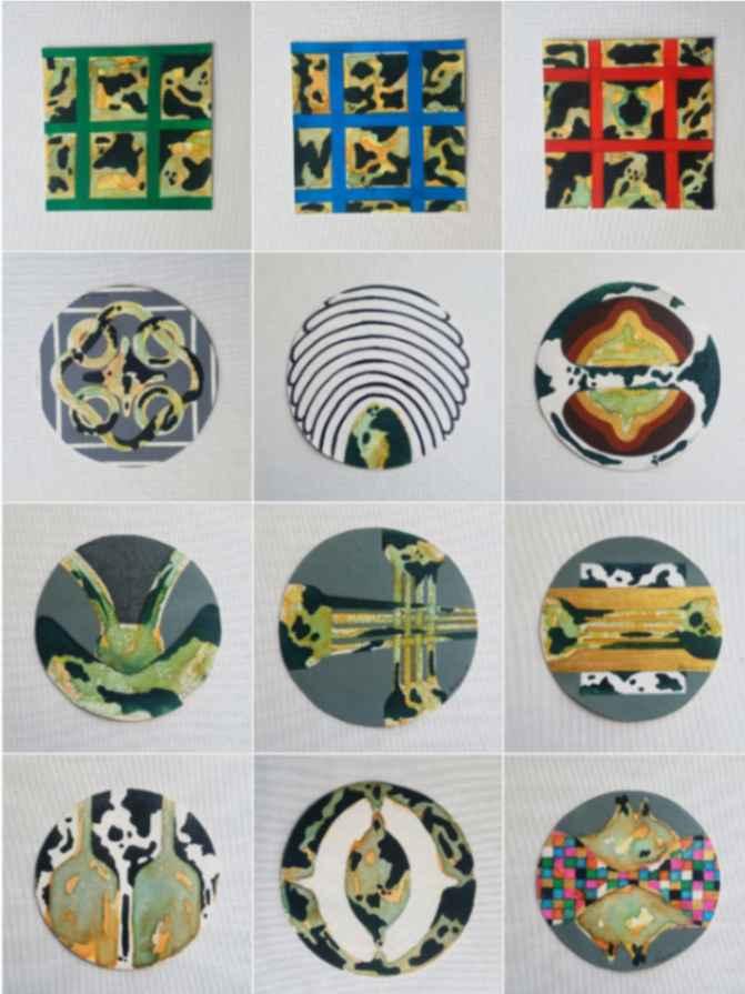 Obra: Obras en pequeño formato. 15 x 15 cm c/u. (Proyectos)