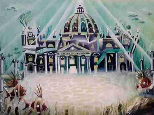 "Obra: ""Basilica de San Pedro""."
