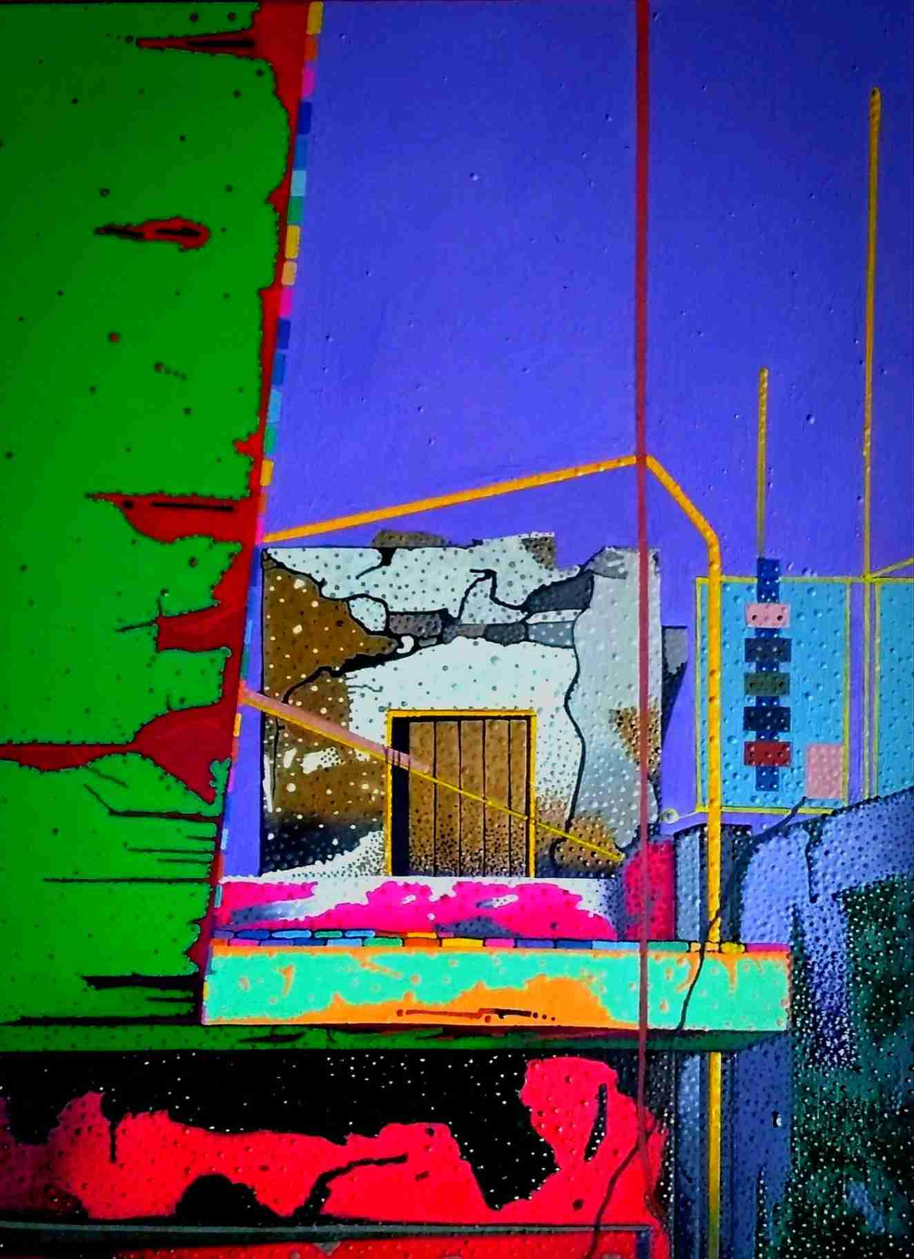 Obra: CASETA,DORADA SOBRE AZOTEA (SMALL HOUSE OUR FIAT ROOF ).