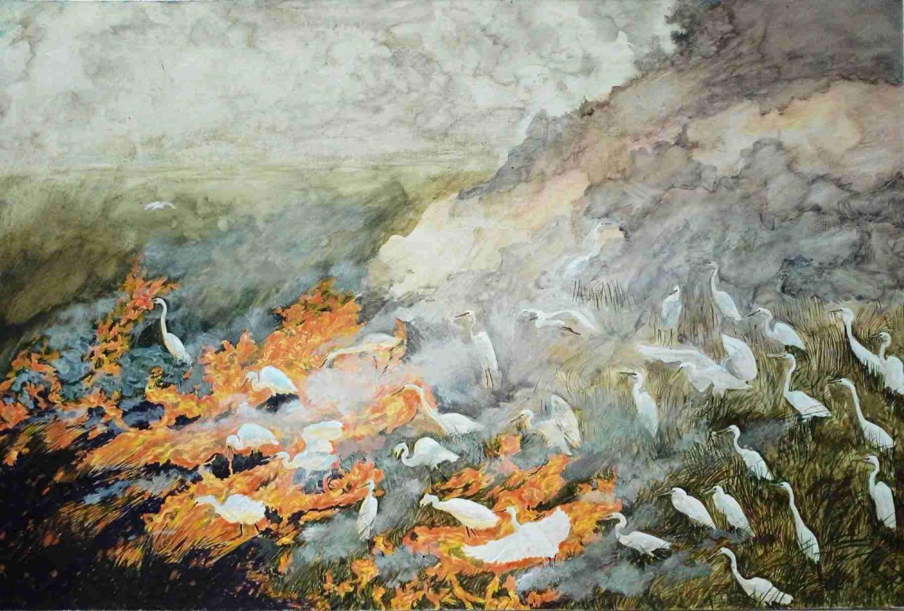 Obra: Las garzas traen la candela