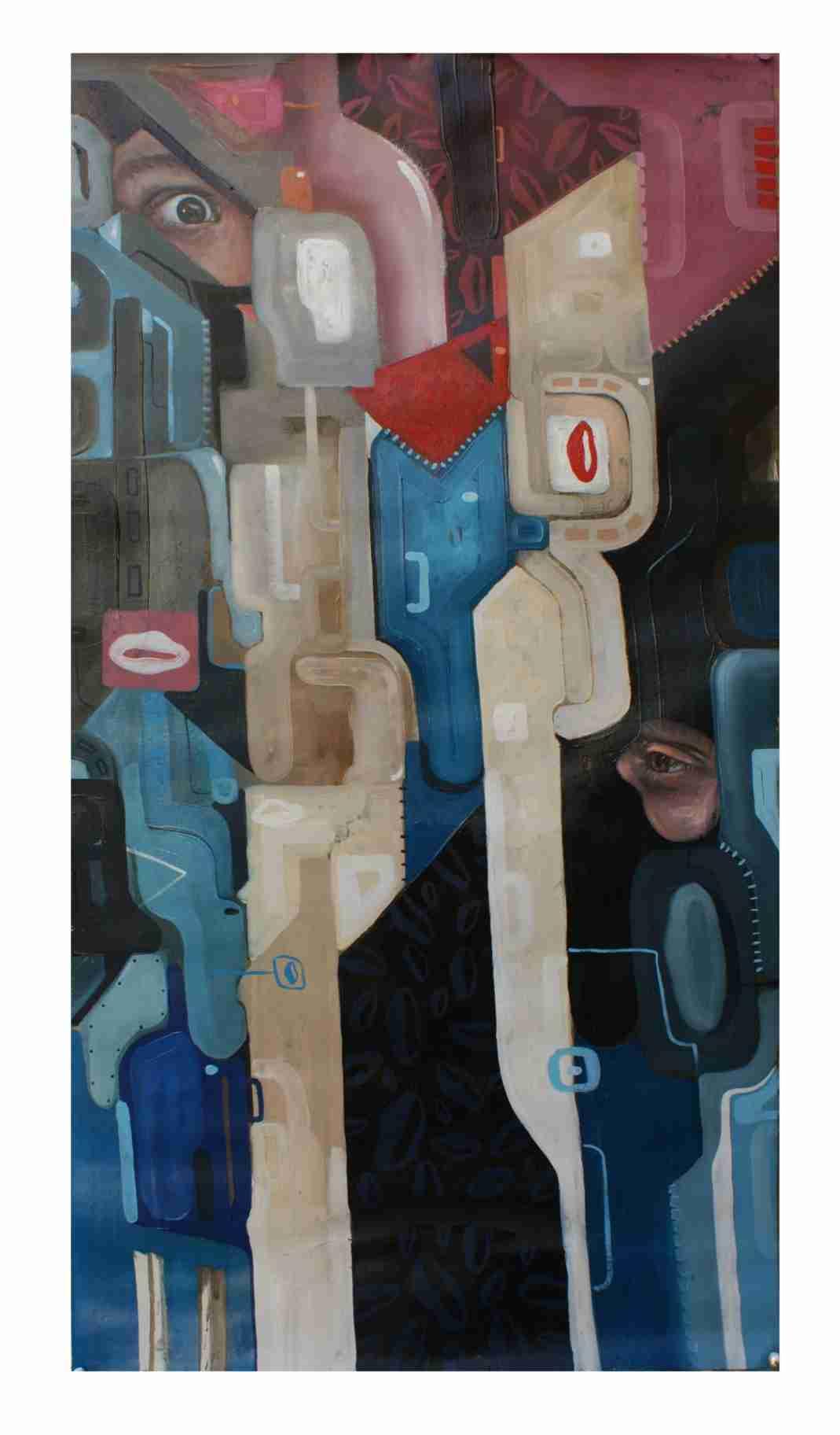 Obra: Miradas en Composición Fragmentada