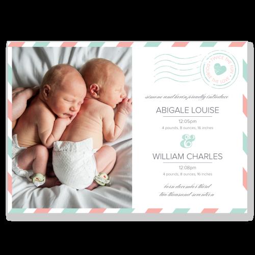 Twins Postcard