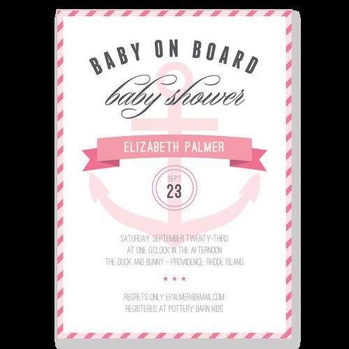 Baby on Board Invite