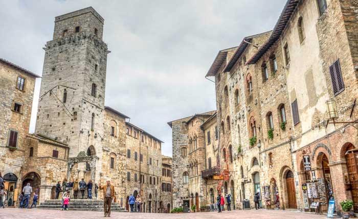 San Gimignano Square, Tuscany