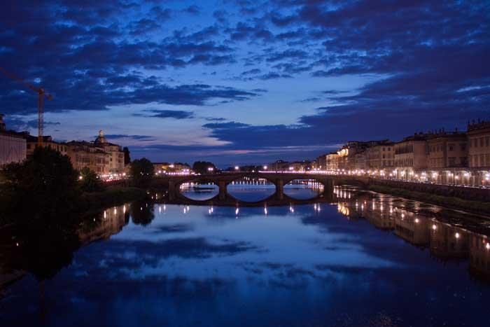 Ponte alla Carraia, Blue Hour, Firenze