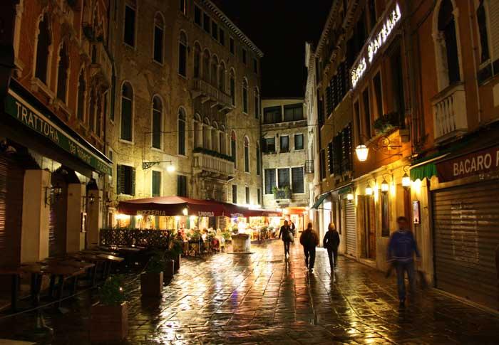 Venice's Terraferma at Night