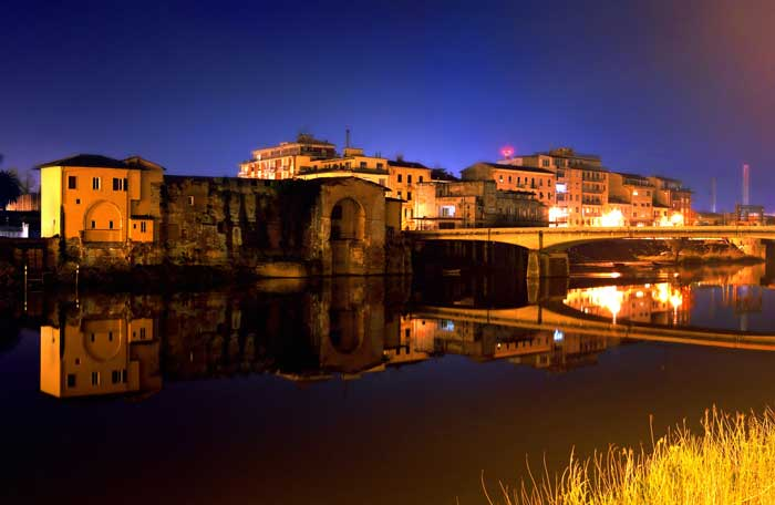 Ponte della Cittadella at Night, Pisa