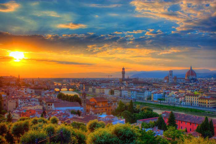 Sunset at Piazza Michelangelo, Florence