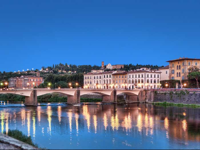 Ponte alle Grazie, Arno River, Florence
