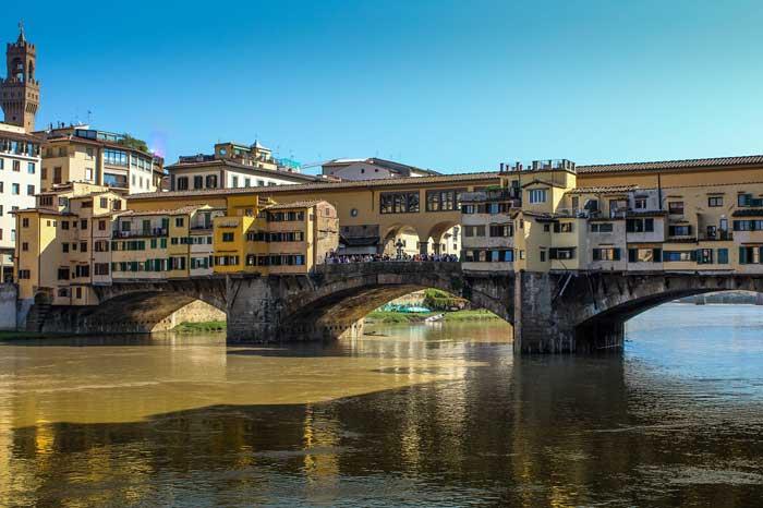 Famous Ponte Vecchio with the Vasari Corridor, Florence