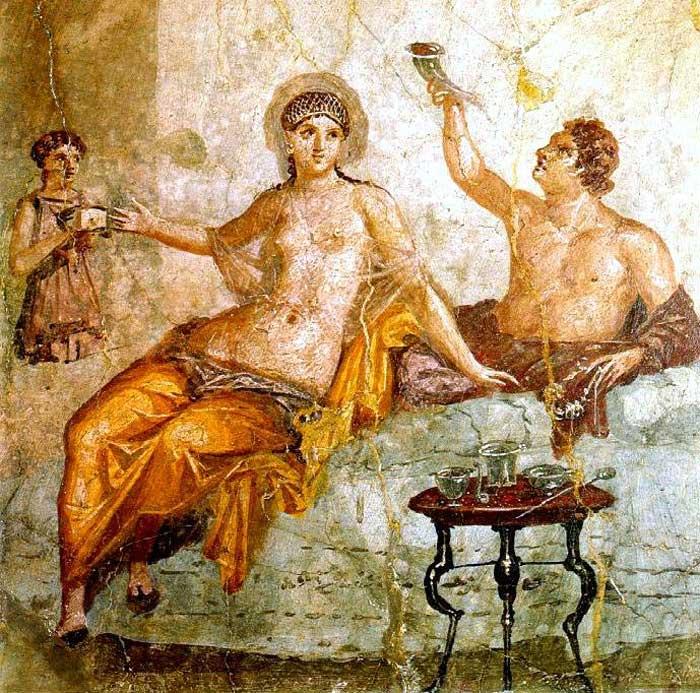 Herculaneum Fresco, Naples National Archaeological Museum