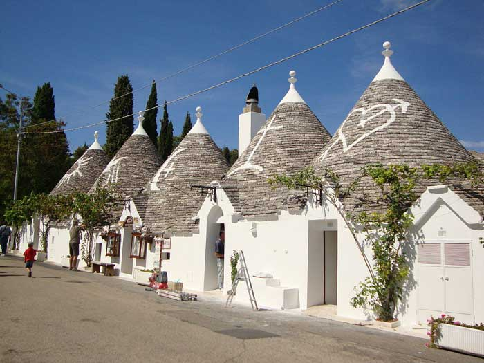 Alberobello Trulli with Typical Conical Roofs, Puglia