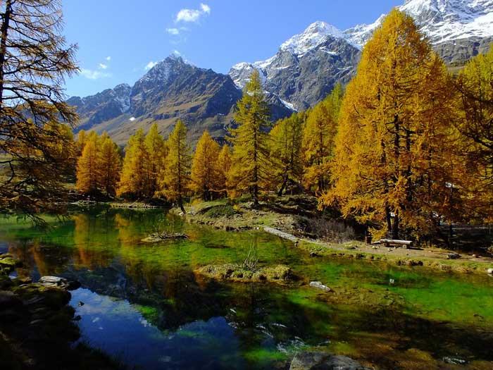 Lago Blu, Breuil-Cervinia, Aosta Valley, Italy