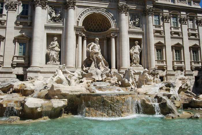 Famous Roman Fountain in Rome: Trevi Fountain