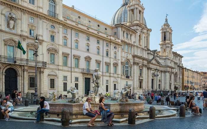 Palazzo Pamphilj Facing Onto Piazza Navona