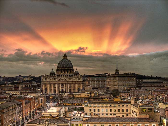 Spectacular Sunset Over Vatican City