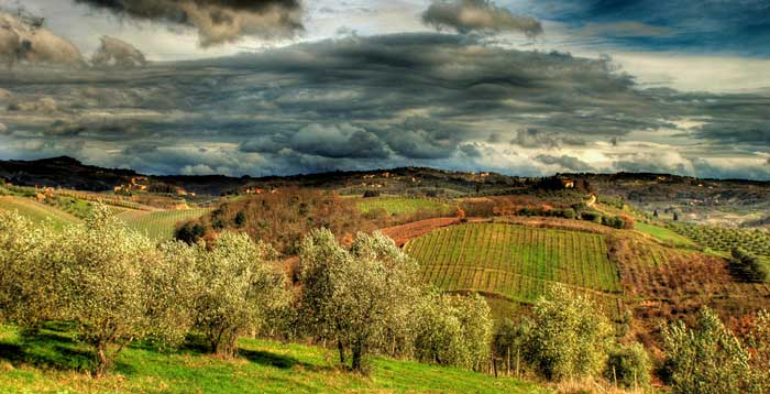 Mystic Landscape in Tuscany