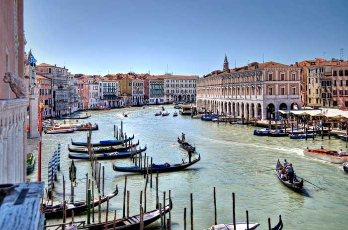 Winding Grand Canal, Venice, Italy