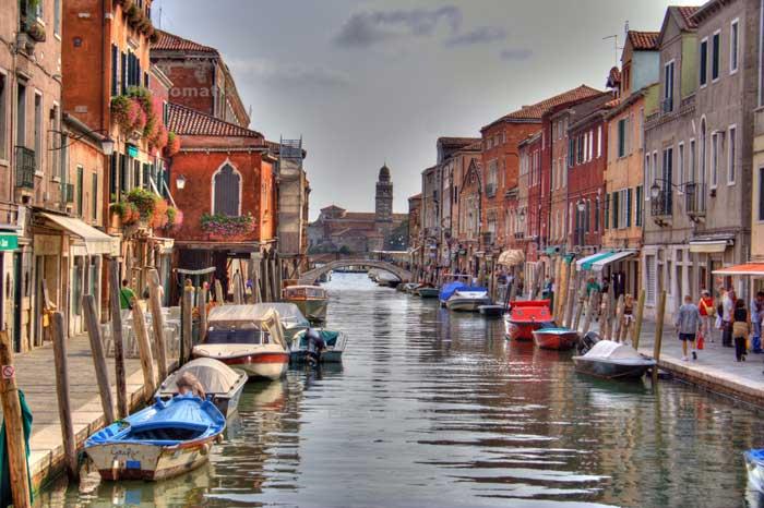 Murano Island Canal, Italy, Venice