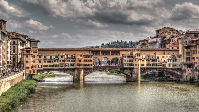 Ponte Vecchio on A Cloudy Day, Florence