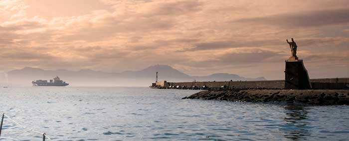 Leaving the Gulf of Naples