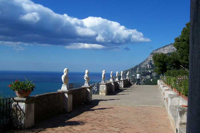 Terrace of the Infinite in Villa Cimbrone, Ravello