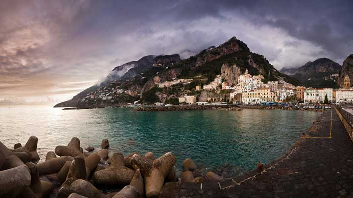 Sunset at the Amalfi Coast, Costiera Amalfitana