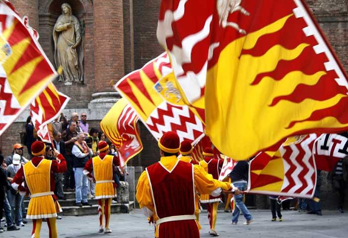Parade in the Valdimontone Neighborhood, Siena