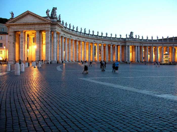 Bernini's Tuscan Colonnade, St. Peter's Square, Vatican