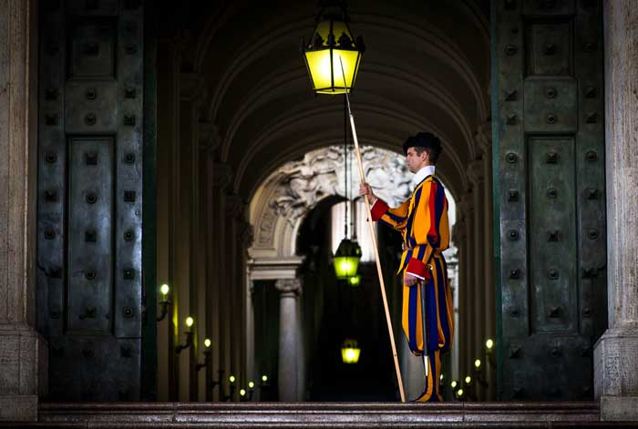 Dignified Vatican City Swiss Guard