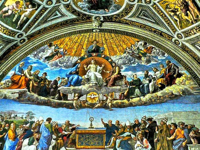 Raphael's Fresco, Stanza della Segnatura, Vatican Museums
