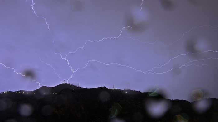 Lightnings over Monte Pellegrino, Palermo, Sicily