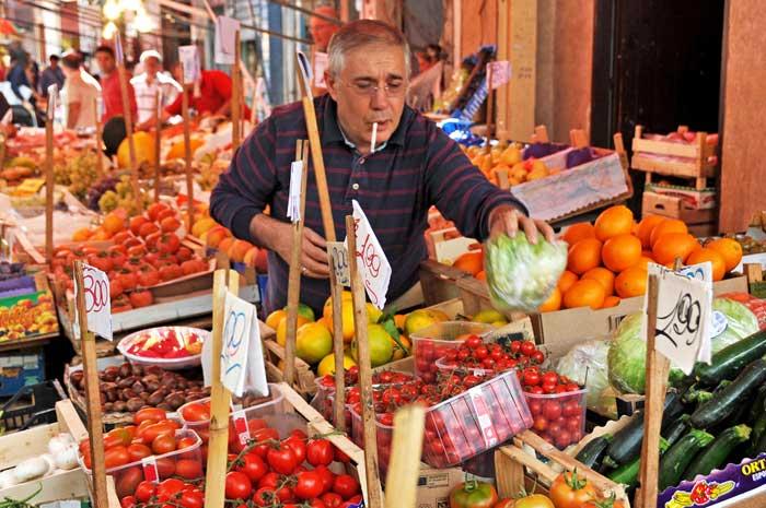 Colorful Capo Street Market, Palermo