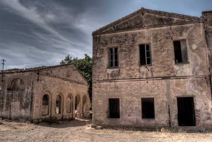 Abandoned Villaggio Asproni, Southern Sardinia
