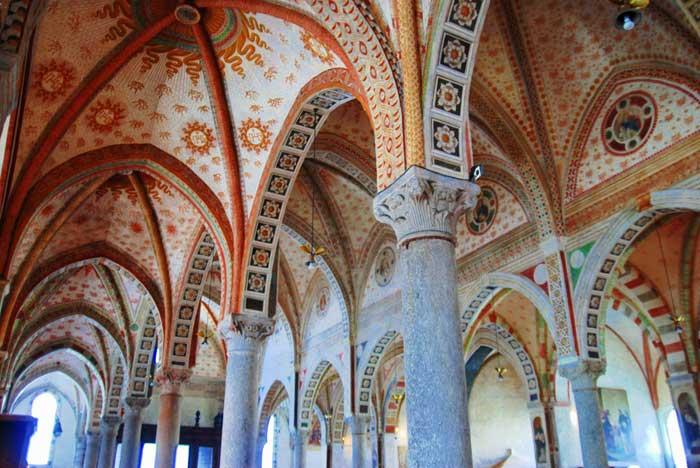 Interior Santa Maria Delle Grazie, Milano. Italy