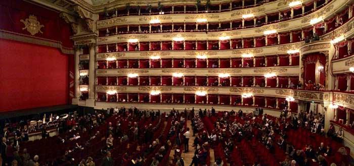 Famous Teatro alla Scala, Milan, Italy