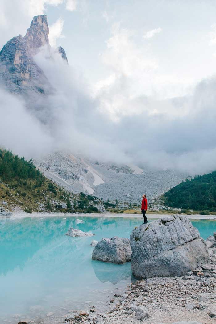 Lago di Sorapiss, Dolomites, Italy