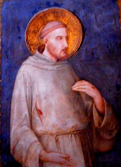 Fresco Depicting St Francis, Sacro convento, Assisi, Italy