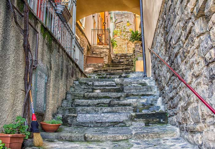 Varenna Street, Northern Italy, Lake Como