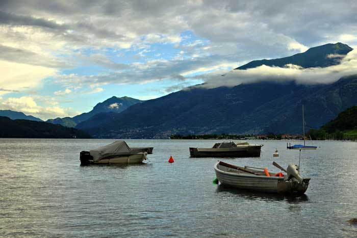 Boats on Lake Como, Northern Italy