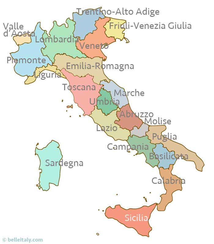 Map Of Italy Regions In Italian.Map Of Italy With Regions Compressportnederland